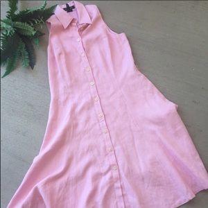 Ralph Lauren Dresses - LAUREN Ralph Lauren Pink Linen Maxi Dress. Sz 8